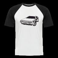T-skjorter ~ Kortermet baseball skjorte for menn ~ DMC DeLorean