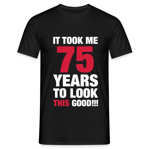 75 years - Men's T-Shirt