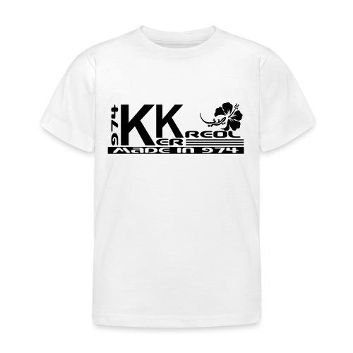 Tee shirt Enfant 974 Ker Kreol Hibiscus et margouillat - T-shirt Enfant