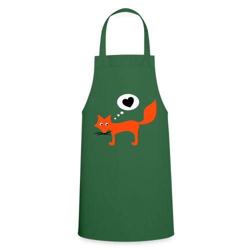 gartenschürze, der fuchs liebt dich - Kochschürze
