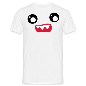 Kawaii Face Scared - Männer T-Shirt