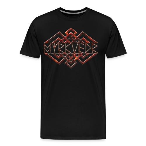 Myrkvedr - Logo (Fire) T-Shirt - Men's Premium T-Shirt