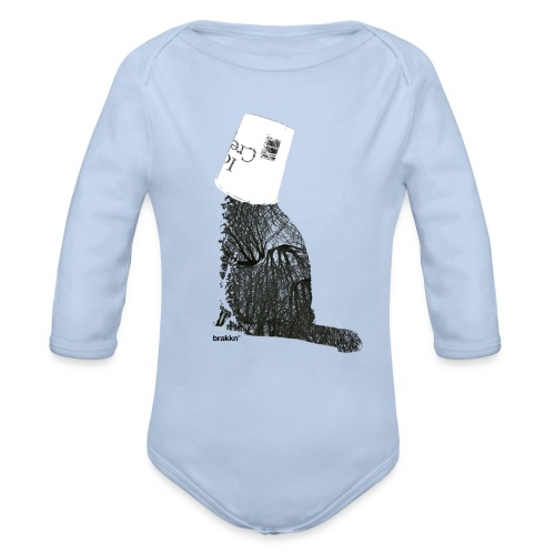 Ice-cream cat - Organic Longsleeve Baby Bodysuit