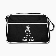 keep calm and toxic  Bags & backpacks