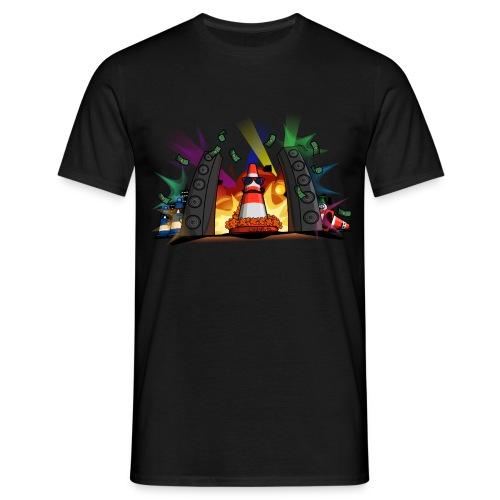 Pièrre le Pylôn - Party-Leitkegel gemäß §43 StVO - Männer T-Shirt