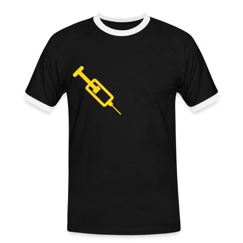 Tee shirt jaune et noir 73 - T-shirt contrasté Homme