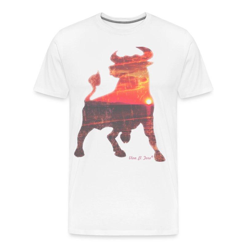 Viva El Toro Sunrise Bull - Men's Premium T-Shirt
