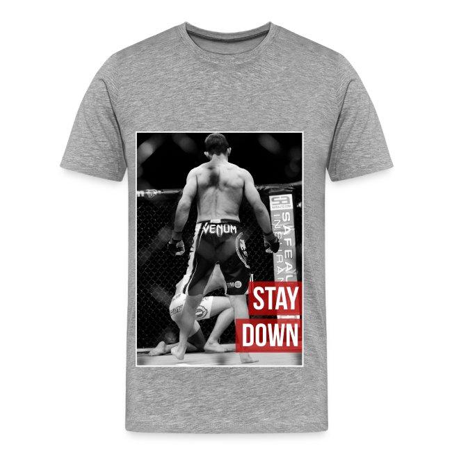 Mens MMA Tshirt - 'Stay down'