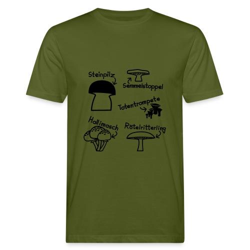 T-Shirt Pilze - Männer Bio-T-Shirt