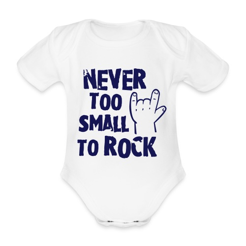 Never Too Small To Rock Baby Grow  - Organic Short-sleeved Baby Bodysuit