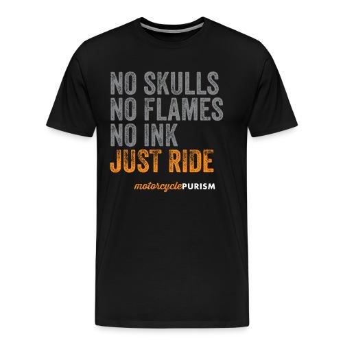 Mens' biker shirt No Skulls  - Men's Premium T-Shirt