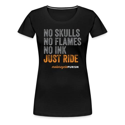 Girlie biker shirt No Skulls  - Women's Premium T-Shirt