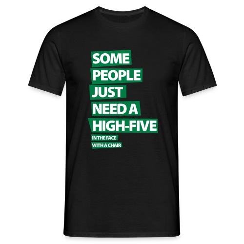 Funny T-shirt Some people just need a high five.. - Mannen T-shirt