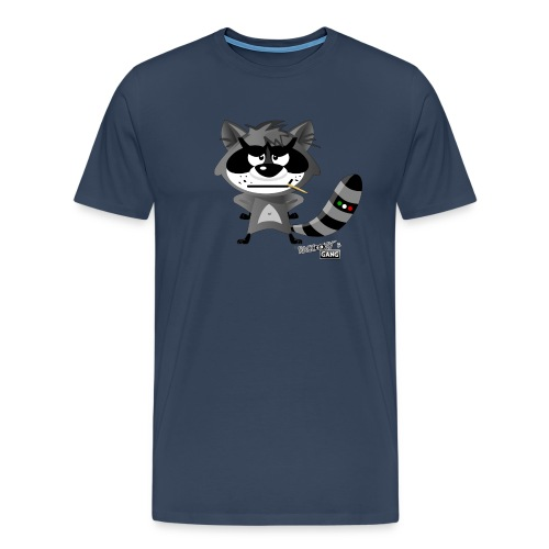 Männer Premium T-Shirt - Mit Motiv Al, dem coolen Waschbär-Boss aus der App RACCooNY's GANG  - With design Al, the cool raccoon boss from the app RACCooNY's GANG