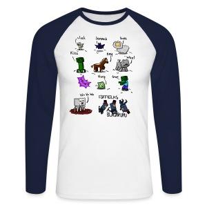 The Squid - Men's Long Sleeve Baseball T-Shirt