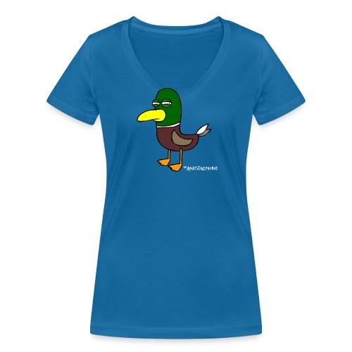 Anatidaephobie  Unbitched Girl - Frauen Bio-T-Shirt mit V-Ausschnitt von Stanley & Stella