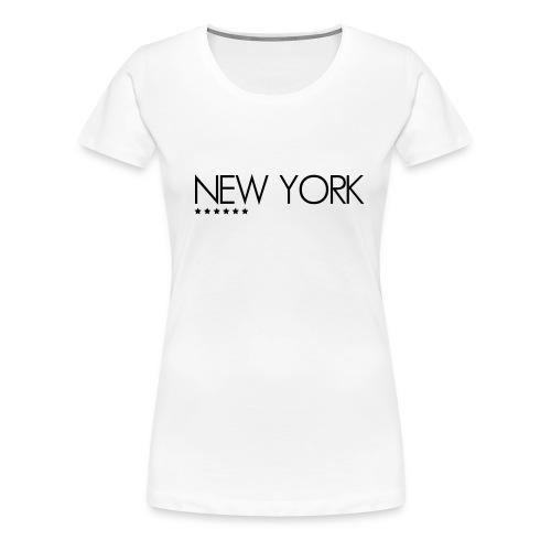 T-SHIRT FEMME NEW YORK - T-shirt Premium Femme