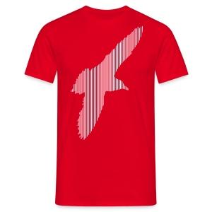 LINE BIRD 033w - Mannen T-shirt