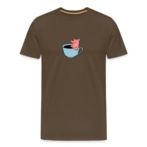 Schwein im Kaffee - Männer Premium T-Shirt