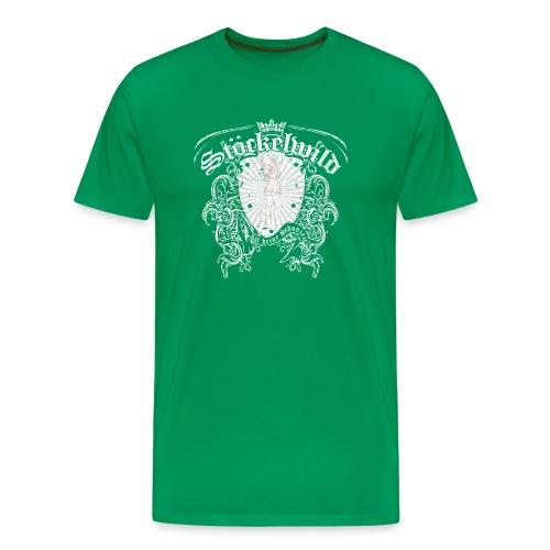 Stöckelwild Wappen grün - Männer Premium T-Shirt