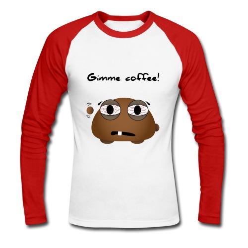 Kaffeemonster - Männer Baseballshirt langarm