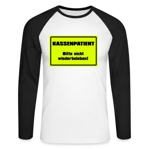 Kassenpatient - Männer Baseballshirt langarm