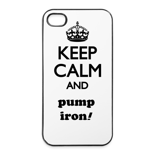 keep calm and pump iron -  4/4s hard case - iPhone 4/4s hard case