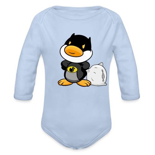 Bettman Duck, Superheld, Ente, Müde! - Strampler - Baby Bio-Langarm-Body