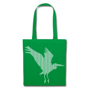 LINE BIRD 034w +TEXT - Tote Bag
