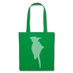 LINE BIRD 035w +TEXT - Tote Bag