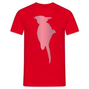 LINE BIRD 035w - Mannen T-shirt