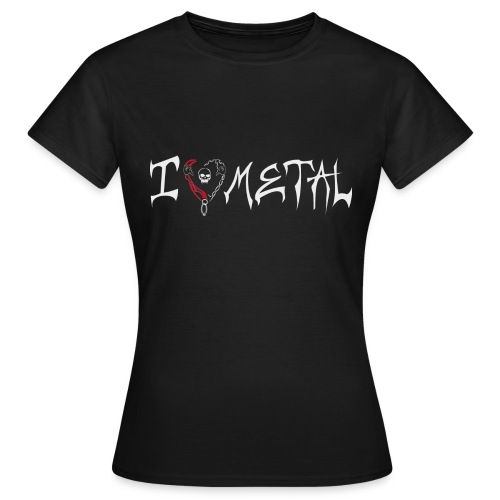 I love metal: Frauen standart Shirt - Frauen T-Shirt