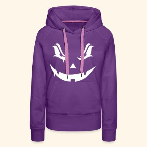 Halloween evil pumpkin - Sweat-shirt à capuche Premium pour femmes