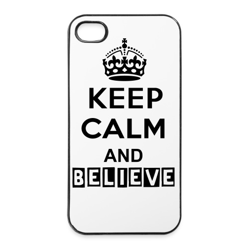 KEEP CALM AND BELIEVE - iPhone 4/4s hard case
