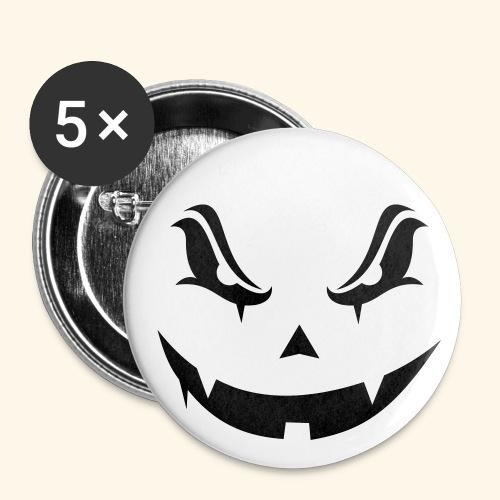 Halloween evil pumpkin - Lot de 5 petits badges (25 mm)