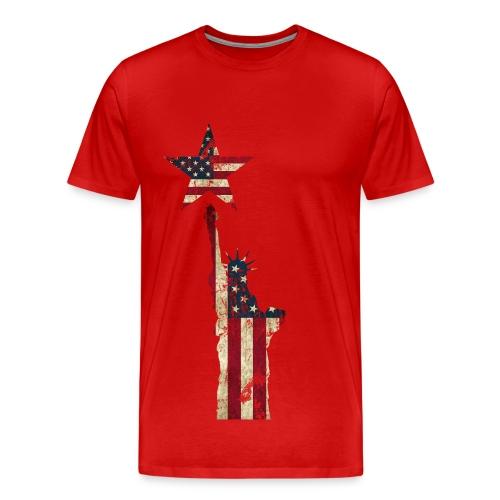 USA Stern Freiheitsstatue - Männer Premium T-Shirt