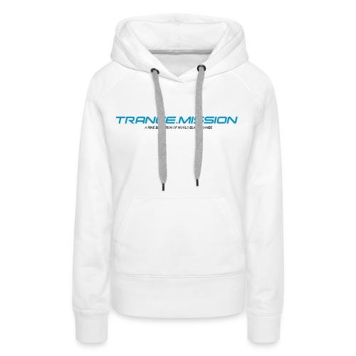 Trance.Mission (w) hoodie (white) - Frauen Premium Hoodie