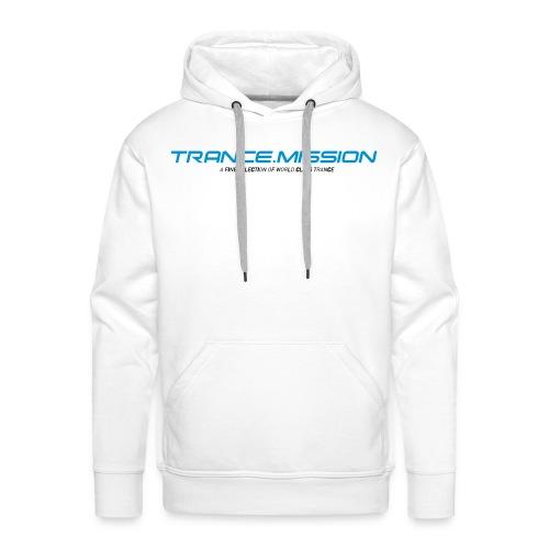Trance.Mission (m) hoodie (white) - Männer Premium Hoodie