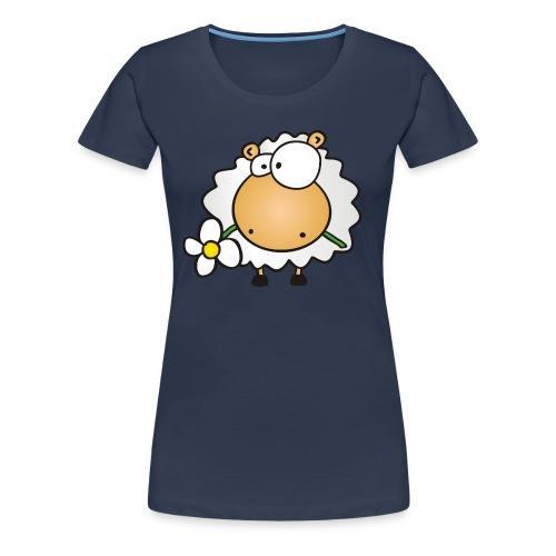 Blume und Schaf - Frauen Premium T-Shirt