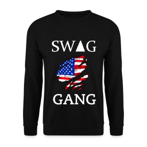 Sweat col rond Swag Gang USA noir #Y.N.S.G - Sweat-shirt Homme