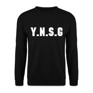Sweat col rond Noir #Y.N.S.G - Sweat-shirt Homme