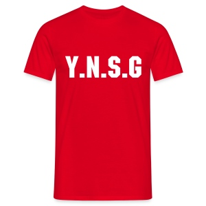 Tee shirt rouge #Y.N.S.G - T-shirt Homme