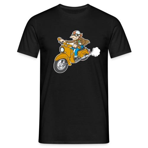 Comic Schwalbe Senfgelb Basic-Shirt - Männer T-Shirt