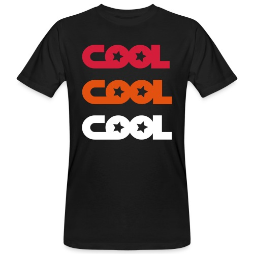 COOL X3 RedOrange /Black - Männer Bio-T-Shirt