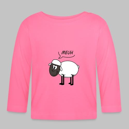 t-shirt bébé (baby) Meuh - Baby Long Sleeve T-Shirt