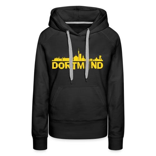 Dortmund Hoodie Frauen mit Schriftzug - Frauen Premium Hoodie