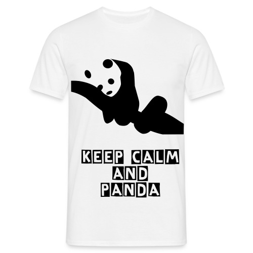 Keep calm and Panda - Männer T-Shirt