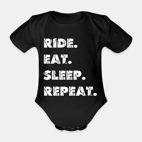 Ride Eat Sleep Babybody - Baby Bio-Kurzarm-Body