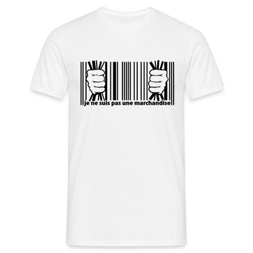 code barre je ne suis pas une marchandise - T-shirt Homme