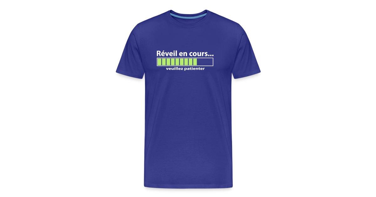fecd701f27c1f T shirt fashion store   Réveil en cours humour geek - T-shirt Premium Homme